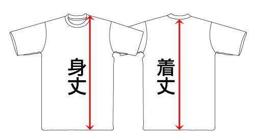 着丈と身丈―Tシャツの測り方